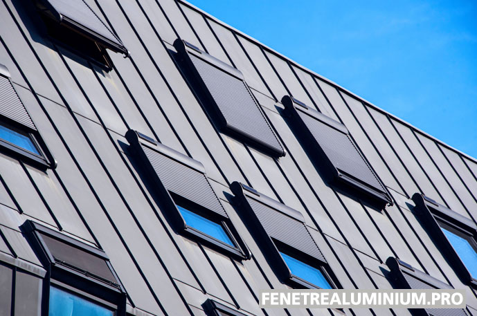 fenetre aluminium toit ciel
