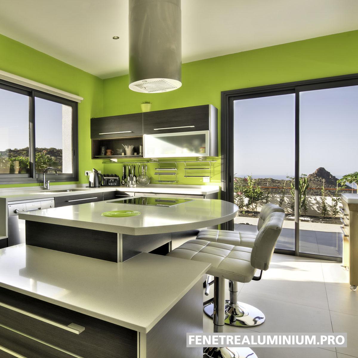 cuisine baie vitree lumiere